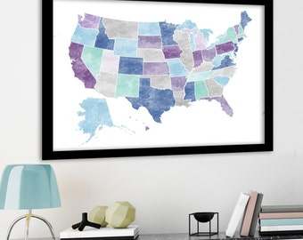 Customised USA map, Large US map, usa push pin map, usa pin map, graduation gift, travel map, bucket list map, US travel map, Canvas usa map