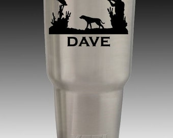 Deer Duck Hunting Engraved Custom 20 30 oz Yeti Cup Personalized