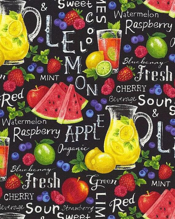 Lemonade Amp Fruit Punch Fabric Food Fabric Farmer John