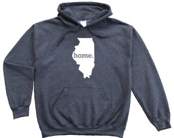 Homeland Tees Illinois Home Pullover Hoodie Sweatshirt