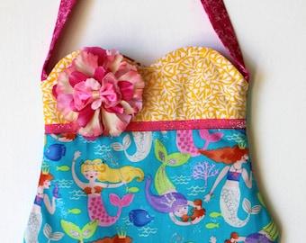 Pretty Glitter Mermaid Purse, girls purse, toddler purse, spring purse, girlie purse