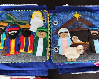 Felt Nativity Characters Quiet Book Pattern