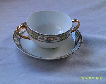 Vintage Bavarian Bullion Cup and Saucer
