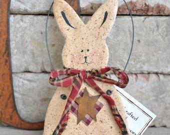 Easter Bunny Easter Decoration Spring Decor Spring Bunny Salt Dough Ornament Rabbit Lover Gift