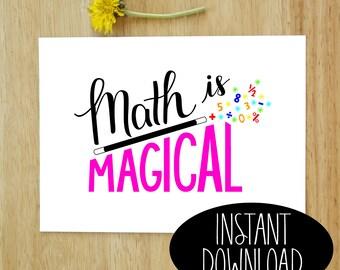Math is Magical Printable