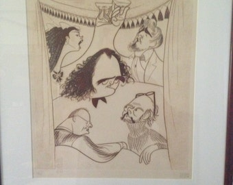 Hirschfeld Limited Edition Print Signed by Artist