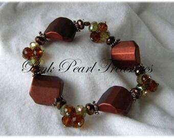 Chunky Bronze stretch bracelet