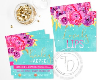 LipSense Business Card Printable, SeneGence Business Card, Watercolor Business Card, Gold Glitter Business Card, Gold Business Card