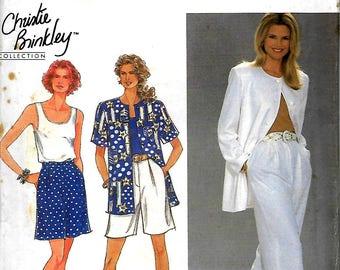 Simplicity 8372     Misses Pants, Shorts, Top and Unlined Jacket      Size  4-8, Size 10-14, Size 16-20  Uncut