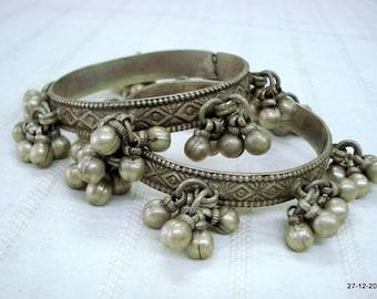 Vintage bangle Antique bangle tribal old silver Bracelet bangle set 2pc