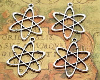 15pcs Atom Chemistry Charms Silver Plated science Charm pendant 26x33mm ASD2228