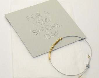 Armband – For a very special day - Grau
