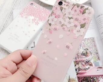 Cherry Blossom iPhone X/6/6plus/7/7plus/8/8plus case (Free Shipping)