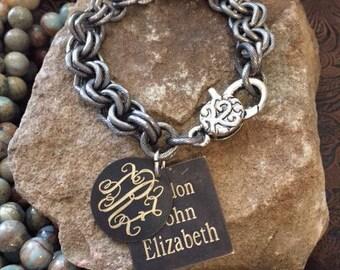 Mothers Bracelet-Monogram Mothers Bracelet-Jewelry-Personalized Bracelet