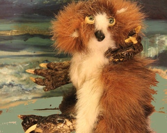 """Original art,  Assemblage Critter - """"Frick"""""""