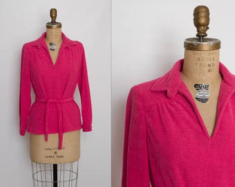 vintage 1970s pink top | deadstock NWT NOS