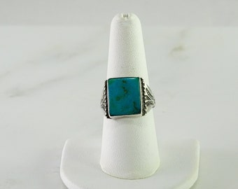 Turquoise Sterling Ring Size 8