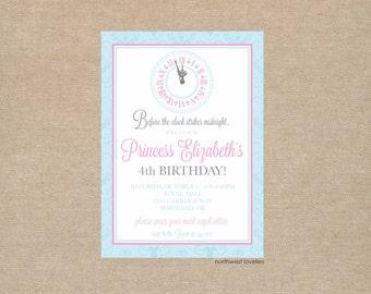 Cinderella Princess Party Invitation