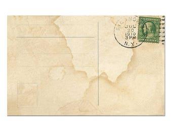 Postcard Template, Postcard Download, Old Postcard Printing, Vintage Postcard Scrapbook #7 - [Digital Postcard]