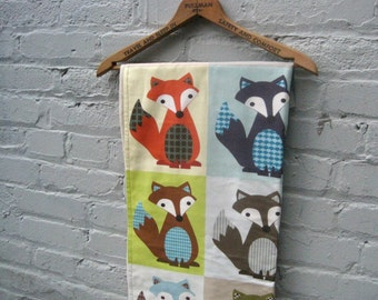 baby blanket organic fox / modern eco friendly kids bedding (Ready to Ship)