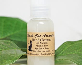 All Natural Hand Cleanser, Aloe Vera Hand Cleaner, Hand Sanitizer, Travel Hand Cleaner, Travel Size, Alcohol Free, Synthetic Free, 1 oz