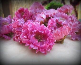 Flowers, Craft Supplies,  Artificial Flowers,  Destash, Victorian, Embellishments, Shabby Chic, Pink