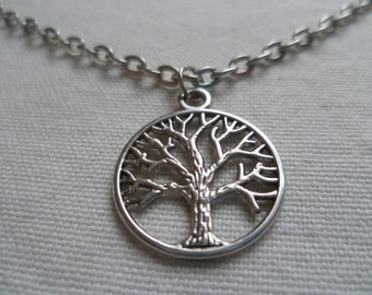 tree of life necklace,silver tree of life necklace,gift,tree of life jewelry,wiccan jewelry,tree jewelry,pagan,tree of life pendant,