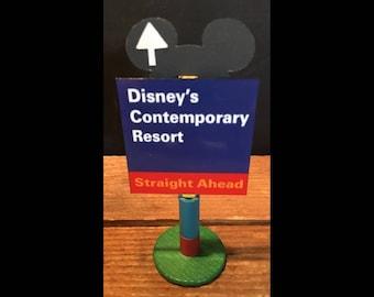 handmade Disney inspired road sign Disney's Contemporary Resort