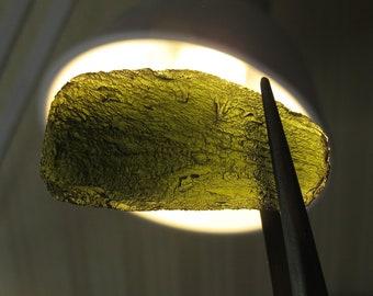 MOLDAVITE Natural green tektite crystal 21.3 grams raw, meteorite pendant #ML7 - Czech Republic