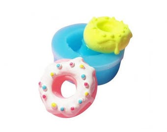 Miniature donut with sprinkles round mold