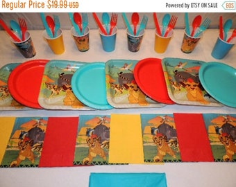 ON SALE Lion Guard Place settings for 8 People                          Decorations Party Supplies Tablecloth