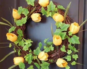 Tulip Time Wreath