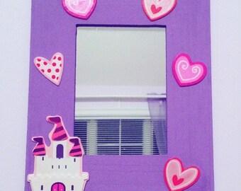 Mirror, Girls Mirror, Nursery Mirror, Children's Mirror, Kids Mirror, Nursery decor, Personalized Mirror, Picture Frame, Kids gift, Kids toy