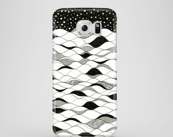 Deep waters mobile phone case / Samsung Galaxy S7, Samsung Galaxy S6, Samsung Galaxy S6 Edge, Samsung Galaxy S5 / black and white phone case