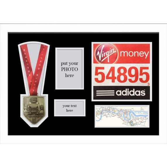 London Marathon 2018 Display Frame For Medal, Title And Photo ...