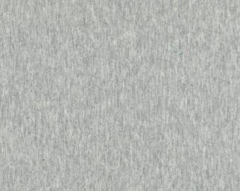 Heather Jersey Knit, Gray Laguna Fabric, Apparel Fabric, Solid Grey Fabric, Jersey Fabric, Robert Kaufman Fabrics,Cotton/Lycra