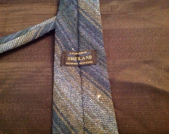 Vintage Scottish Necktie Wool Necktie Plaid Lochcarron Shetland Necktie Wool tie Scottish Neck tie