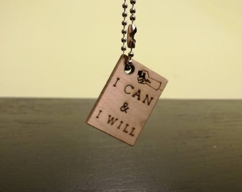 I Can & I Will Wooden Keychain (Free Shipping)