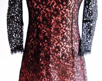 SALE 1940s/50s lace dress, prom, size (8-10)