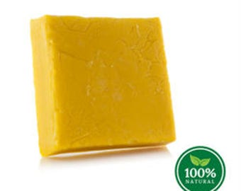 Pure Yellow BEESWAX Block - 100% Natural, CRAFT Grade, Premium Quality - (1 lb)
