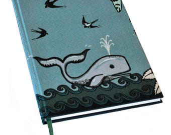 A5 Silk Bound Notebook / A5 Journal / Moby Dick Notebook / Moby Dick Journal / Luxury Stationery