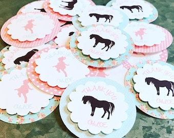 Shabby Chic Pony Tags