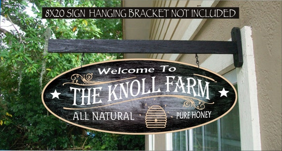 Honey Farm Sign