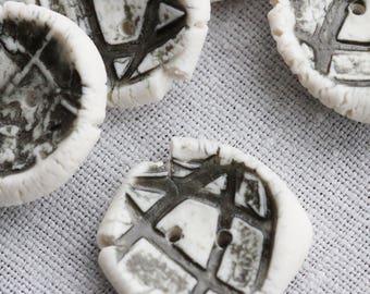 Black Porcelain Buttons