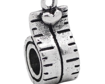 Sewing gift Silver Tape Measure Charms Jewelry Sewing/Hobby Charms Planner charm Bracelet/Bangle charms/jewelry Seamstress/quilting charms