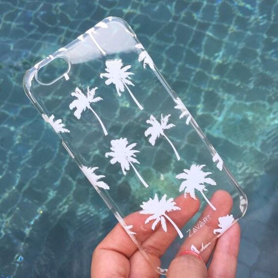 TRANSPARENT PHONE CASE, Iphone 6 phone case, Iphone 6S phone case, carcasa palmeras, palms phone case, iphone 6S case, iphone 6 case, palms
