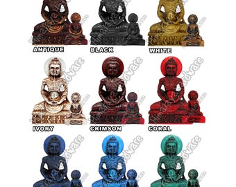 Fasting Buddha of Lahore Resin Statue: sculpture figure Buddhist murti starving