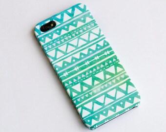 Geometric Mint Pastel iphone case, iPhone 6 case, iPhone 5s case, iphone 4s case, plastic iphone case