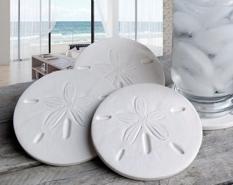 Sand Dollar Drink Coasters,  Absorbent Coasters, Beach House, Barware