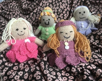 Fairy girls soft hand knitted